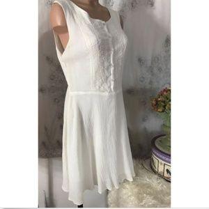 Anthropologie Chelsea & Violet Embroidered Dress L
